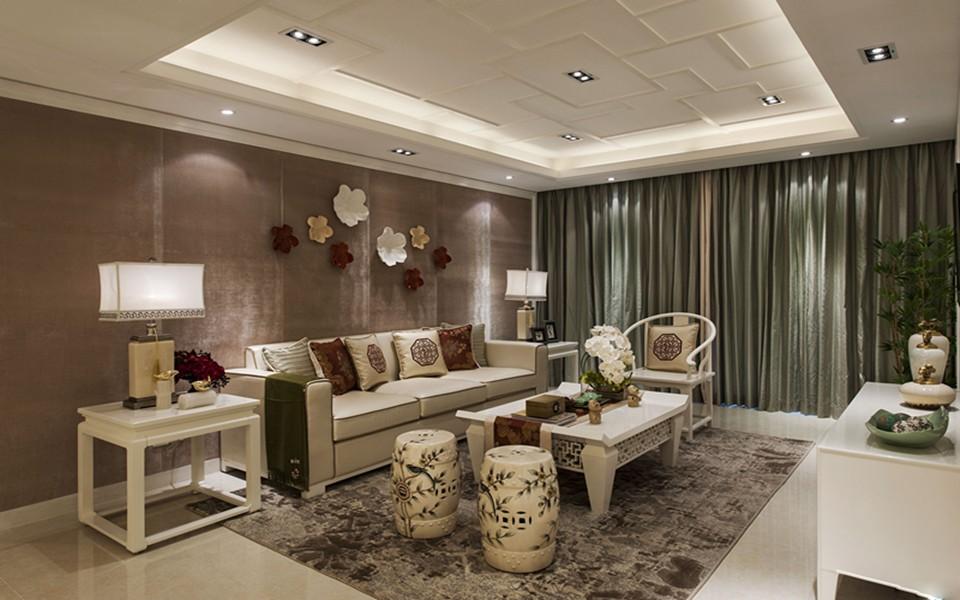 110平混搭风格三居室装修效果图