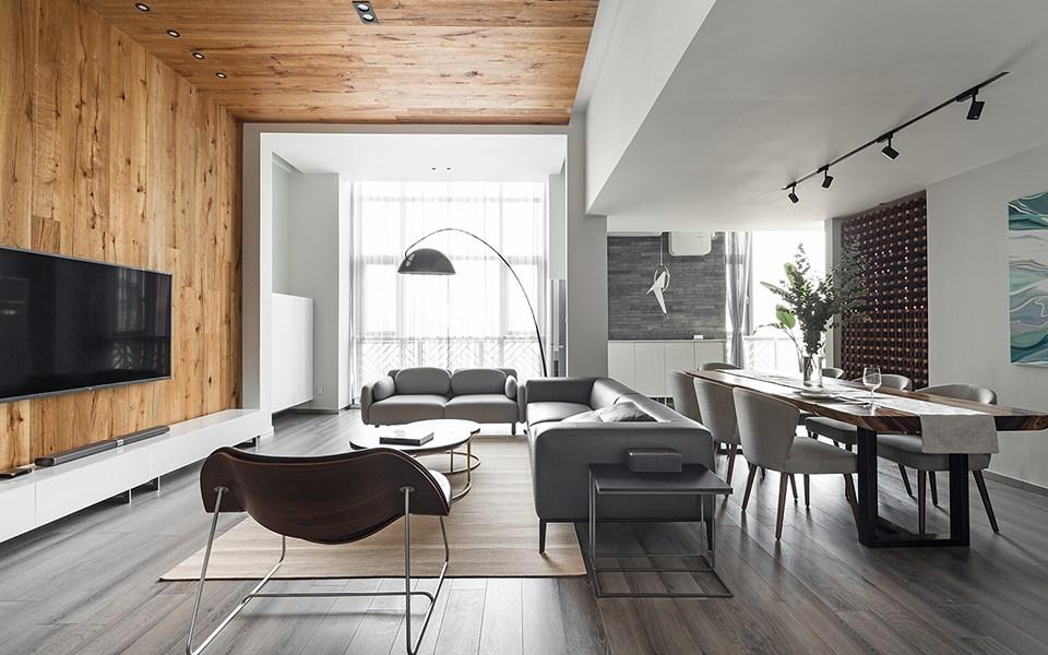 2021现代简约70平米设计图片 2021现代简约三居室装修设计图片