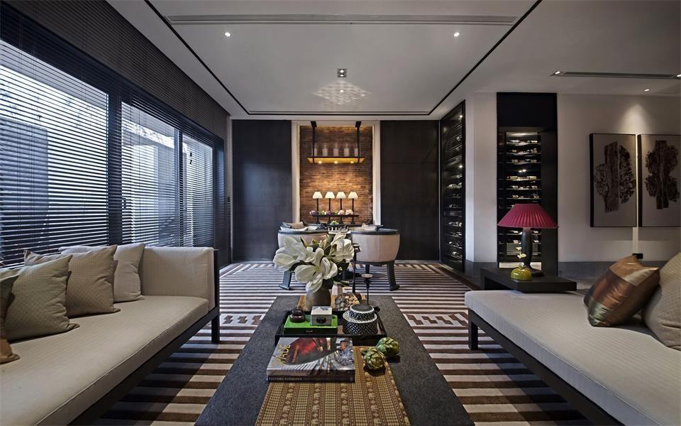 169平新中式风格三居室装修效果图