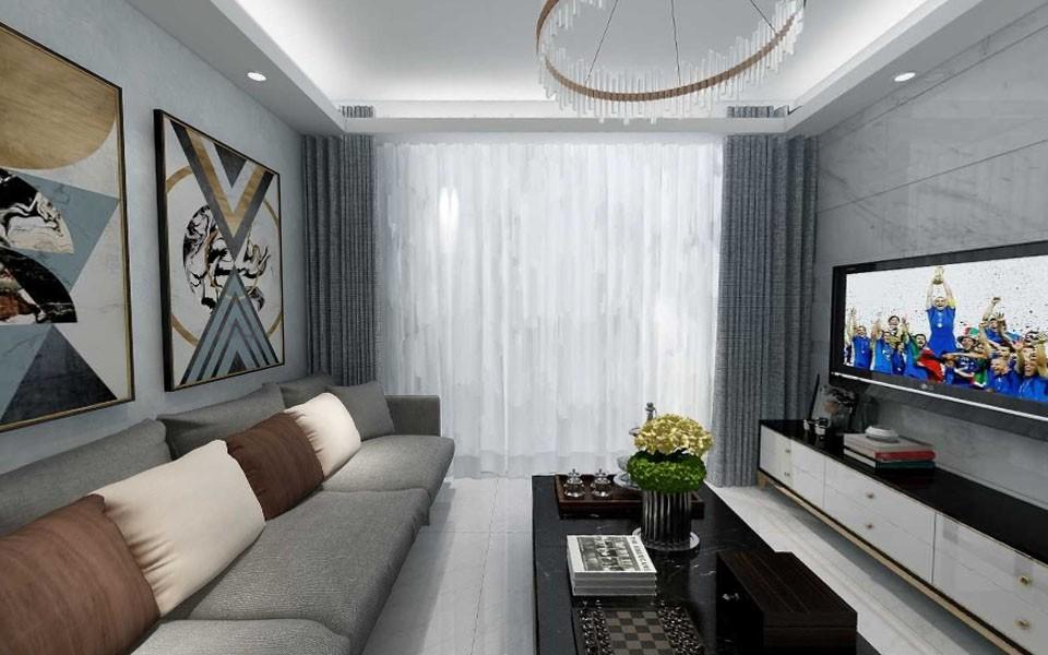 88平现代简约风格两居室装修效果图
