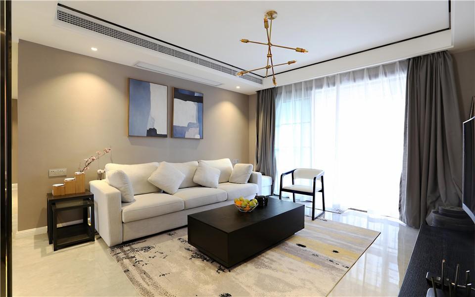 138平现代风格三居室装修效果图