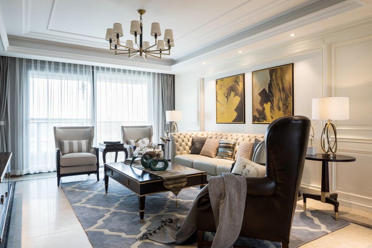 164平现代风格三居室装修效果图