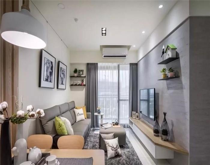 66平现代简约风格两居室装修效果图