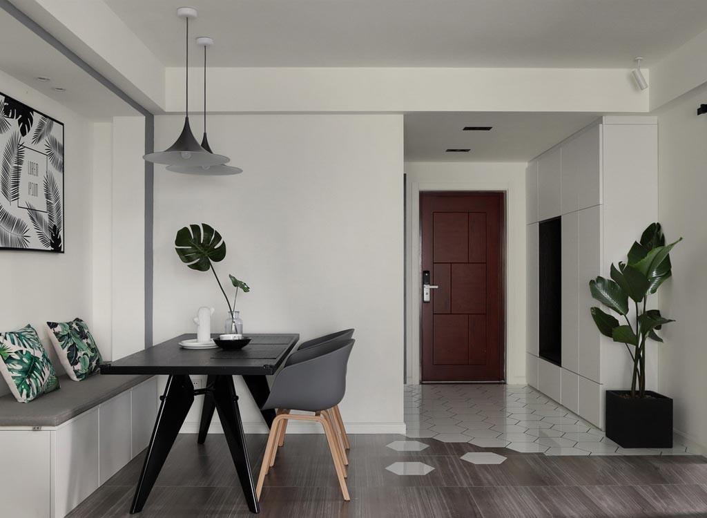98平北欧风格三居室装修效果图