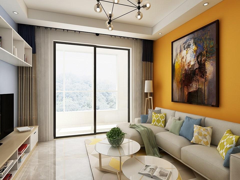 100平北欧风格三室一厅装修效果图