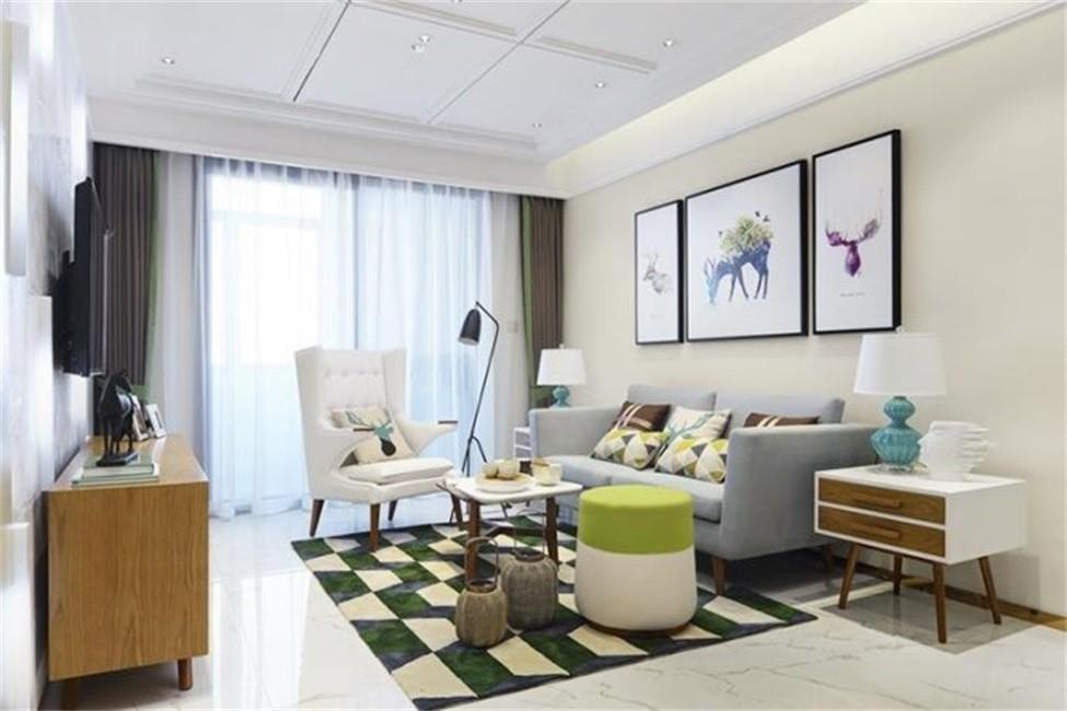 2室1卫1厅84平米北欧风格