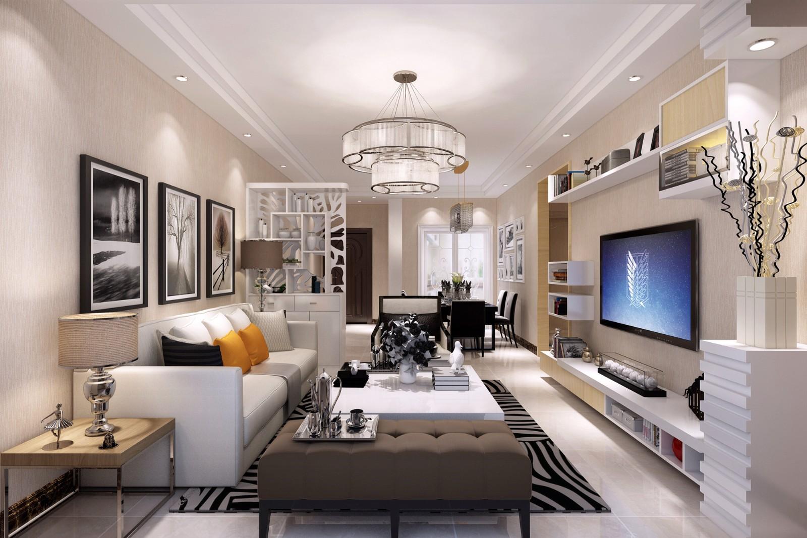 2室1卫2厅95平米现代简约风格