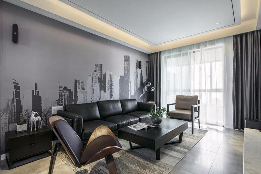 94平现代简约风格公寓装修效果图