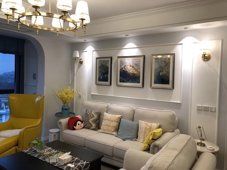 87平美式风格两居室装修效果图