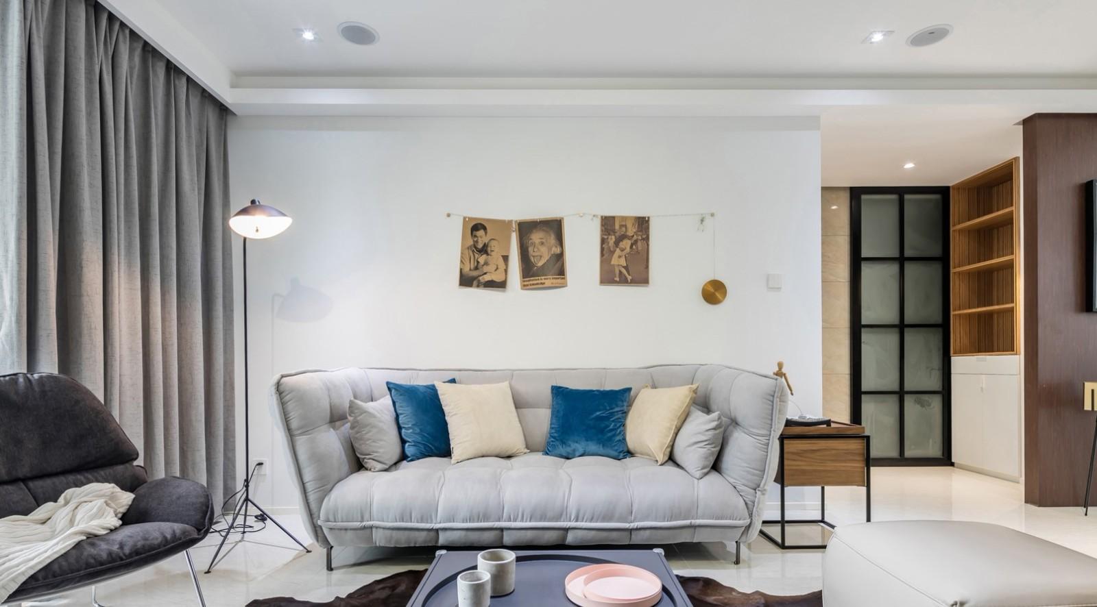 85平简欧风格两居室装修效果图