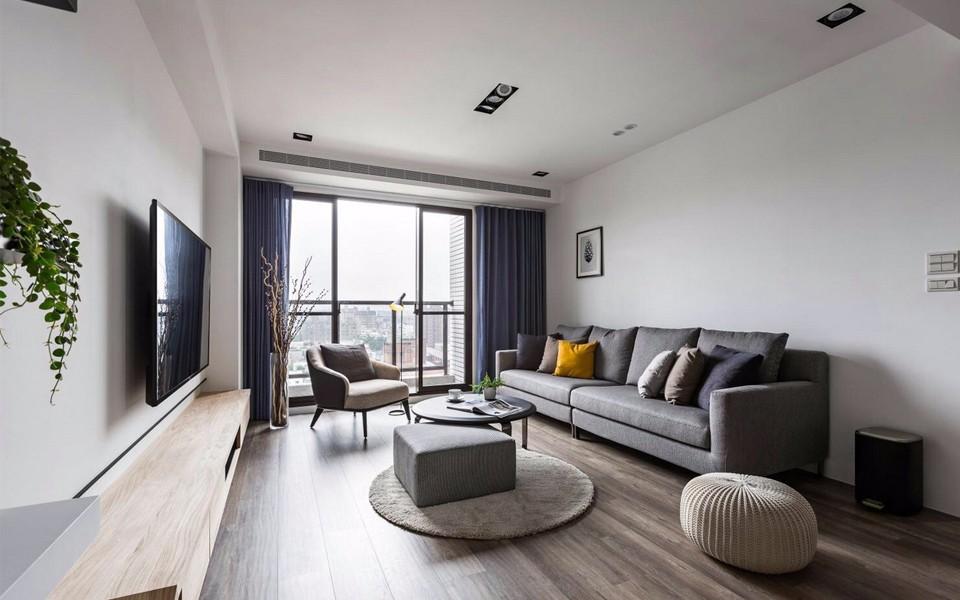 107平现代简约风格两居室装修效果图
