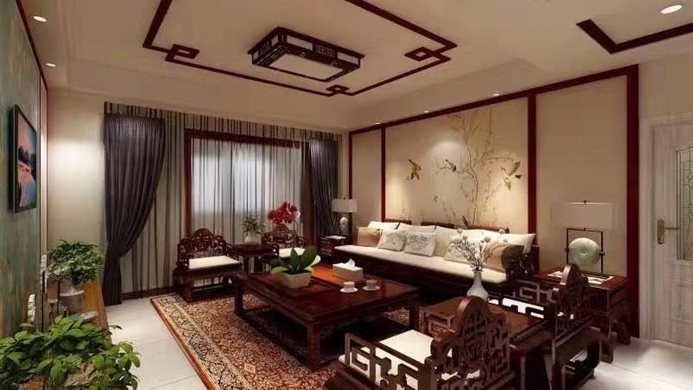 3室2卫2厅135平米中式风格