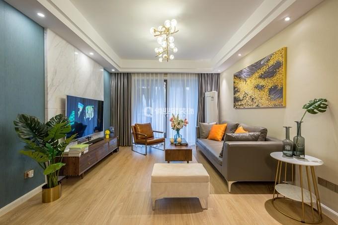 金茂珑悦107平现代风格四居室效果图