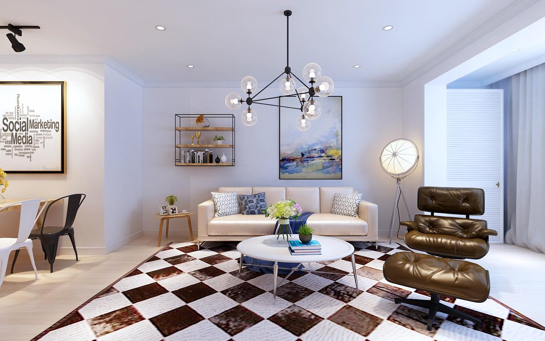 3室1卫2厅120平米北欧风格