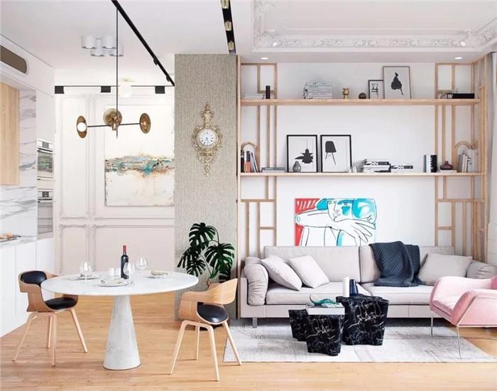 2020欧式70平米设计图片 2020欧式二居室装修设计