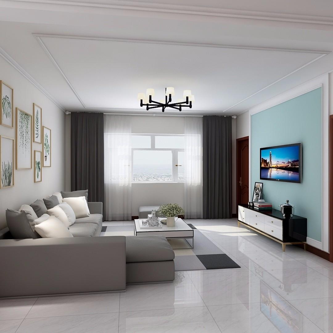 174平现代简约风格三居室装修效果图