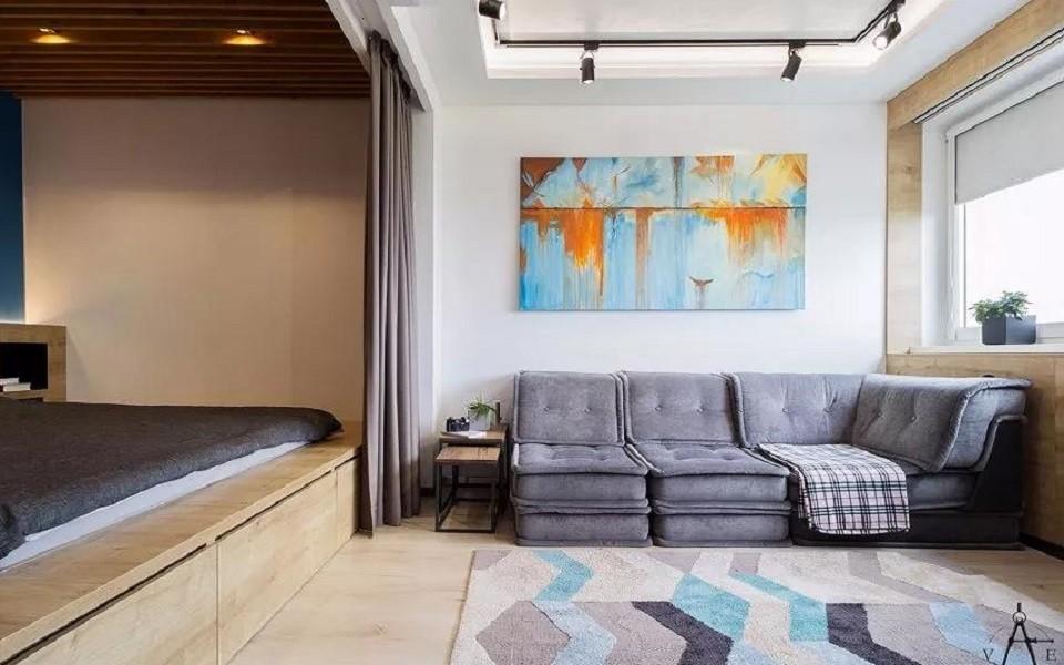 48平现代风格公寓装修效果图