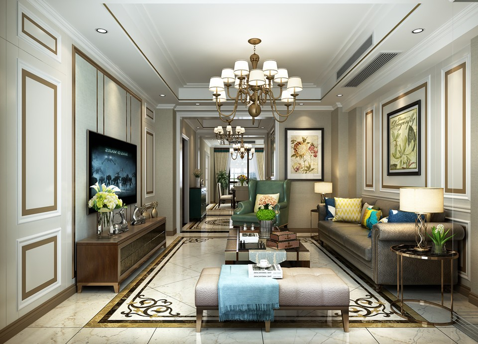 4室2卫2厅190平米美式风格