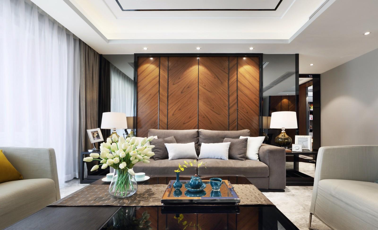 184平新中式风格四居室装修效果图