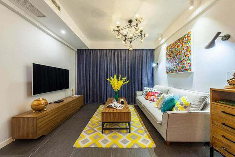 2室1卫2厅88平米简欧风格