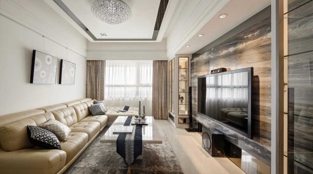 96平新古典风格两居室装修效果图