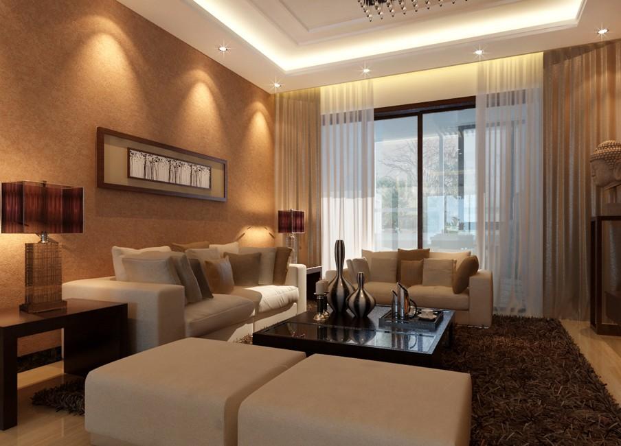 113平简约风格两居室装修效果图