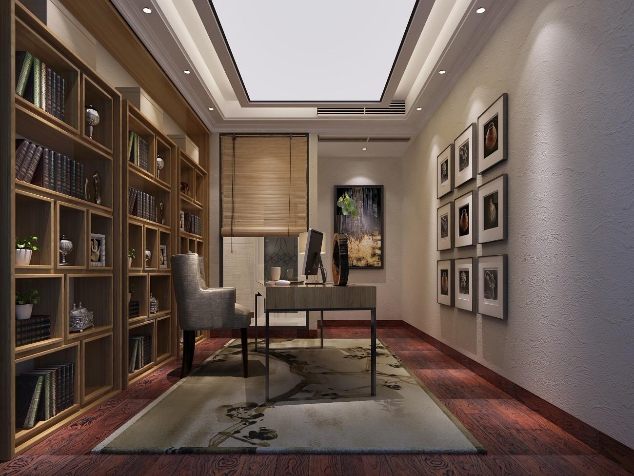 2021新中式300平米以上装修效果图片 2021新中式套房设计图片