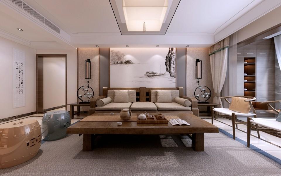 2020中式240平米装修图片 2020中式楼房图片