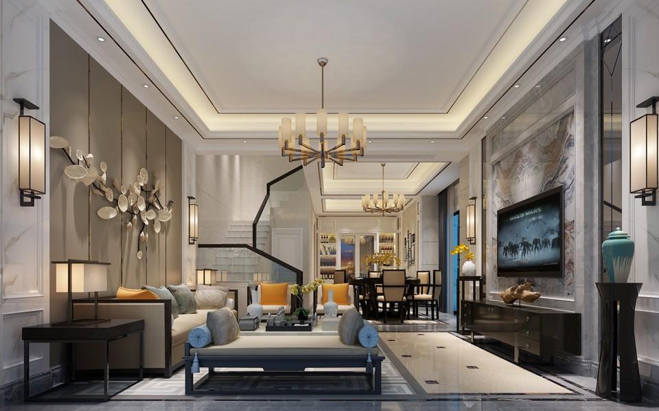 2021简欧150平米效果图 2021简欧别墅装饰设计