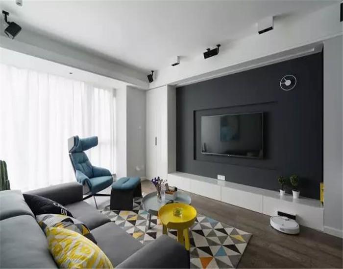 91平米簡約風格兩室兩廳新房裝修效果圖