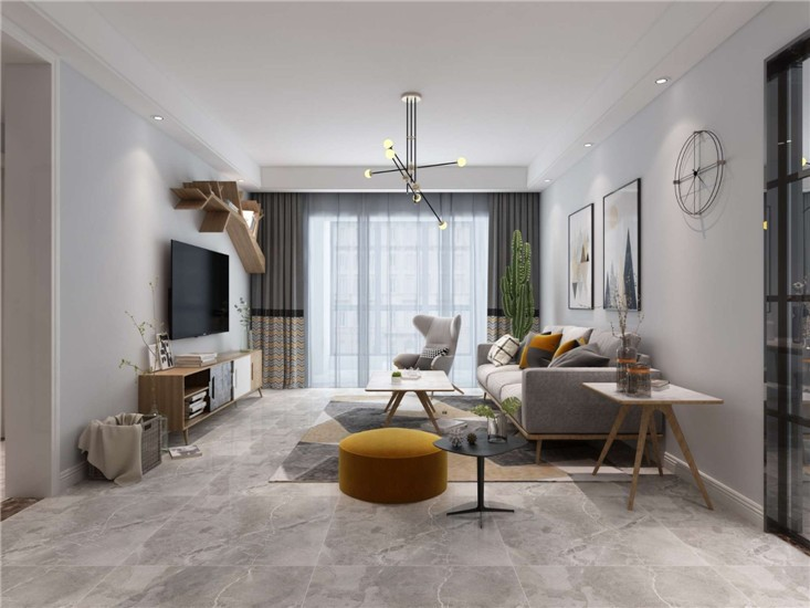 2室1卫1厅114平米简约风格