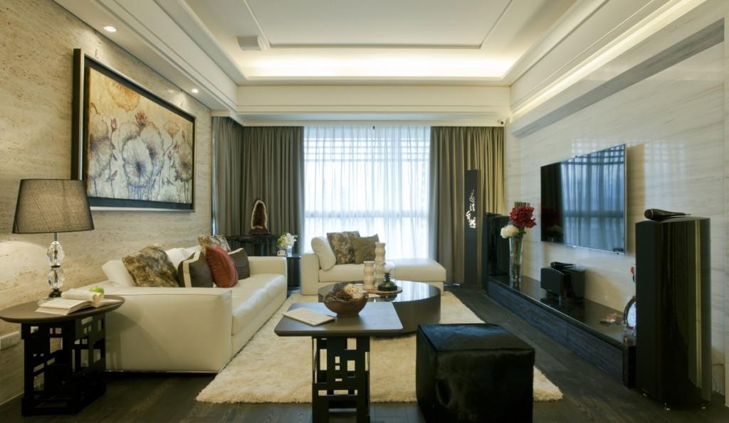 136平现代简约风格三居室装修效果图