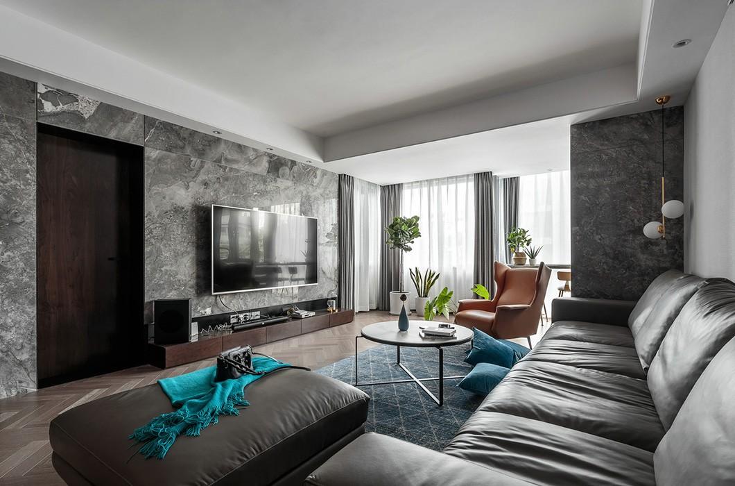 124平现代风格两居室装修效果图