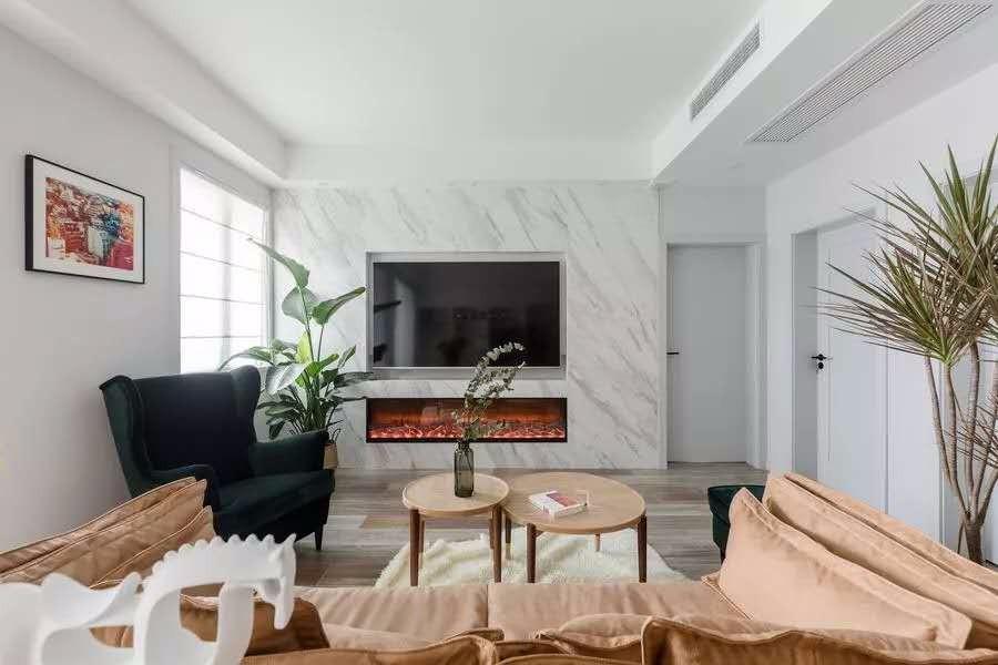 108平简约风格三居室装修效果图