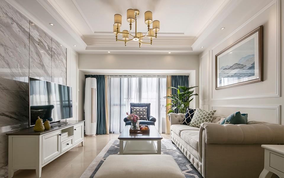 98平美式风格公寓装修效果图