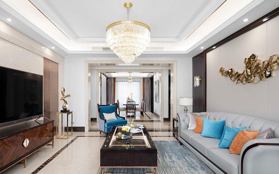 2021现代欧式客厅装修设计 2021现代欧式吊顶设计图片