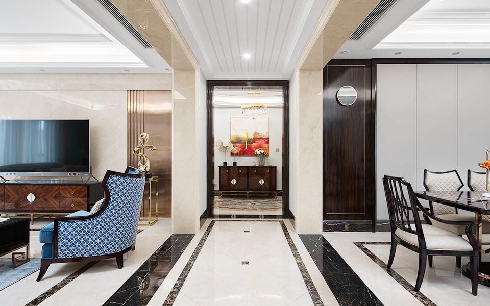 2021现代欧式客厅装修设计 2021现代欧式走廊装修效果图大全