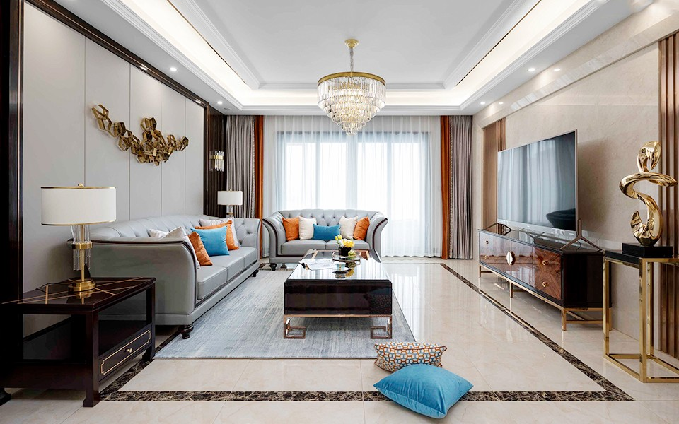 2020現代歐式110平米裝修設計 2020現代歐式公寓裝修設計