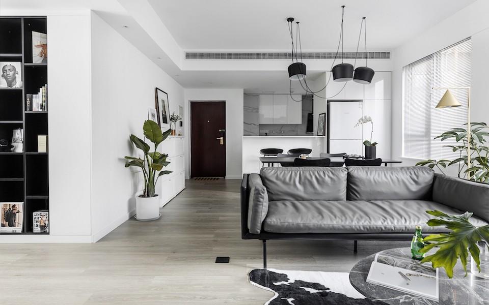 120平现代风格公寓装修效果图