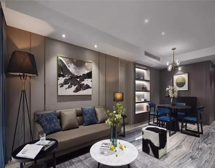 122平现代风格三居室装修效果图