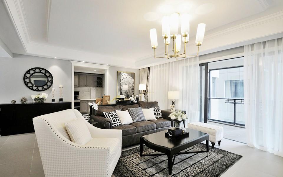 123平美式风格两居室装修效果图