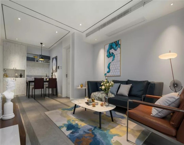 120平现代三居室装修效果图