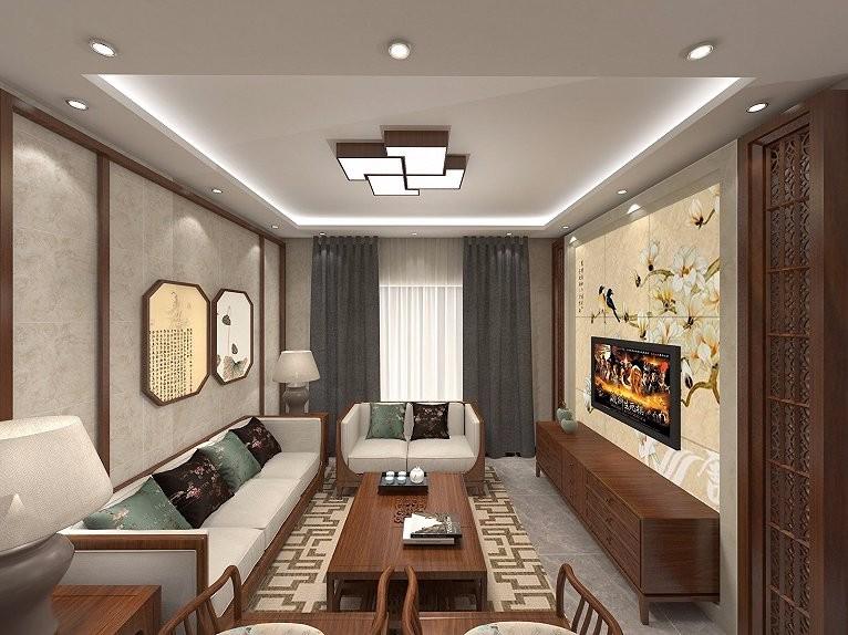 3室1卫2厅90平米新中式风格