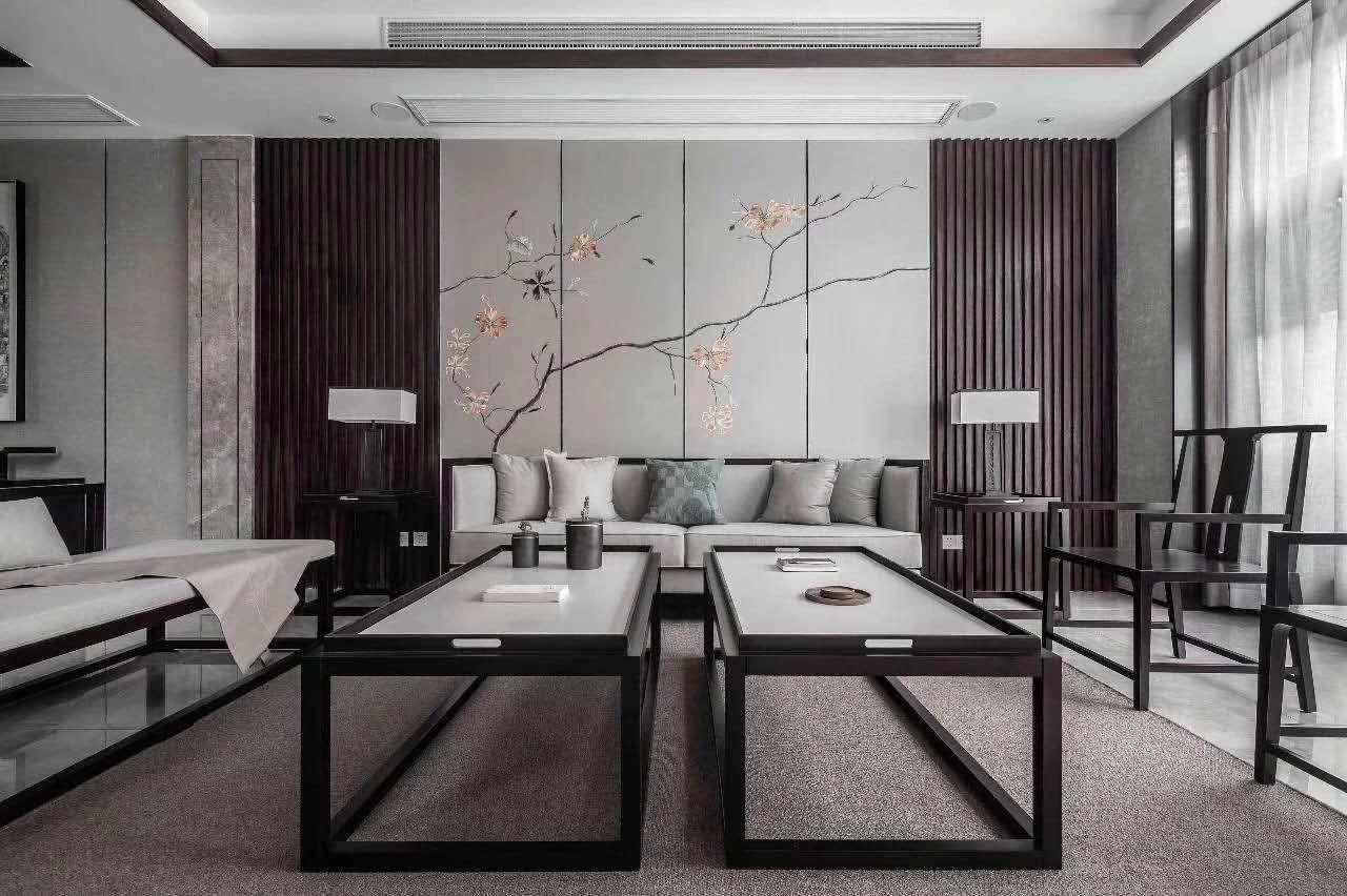 140平米新中式风格三居室图片欣赏