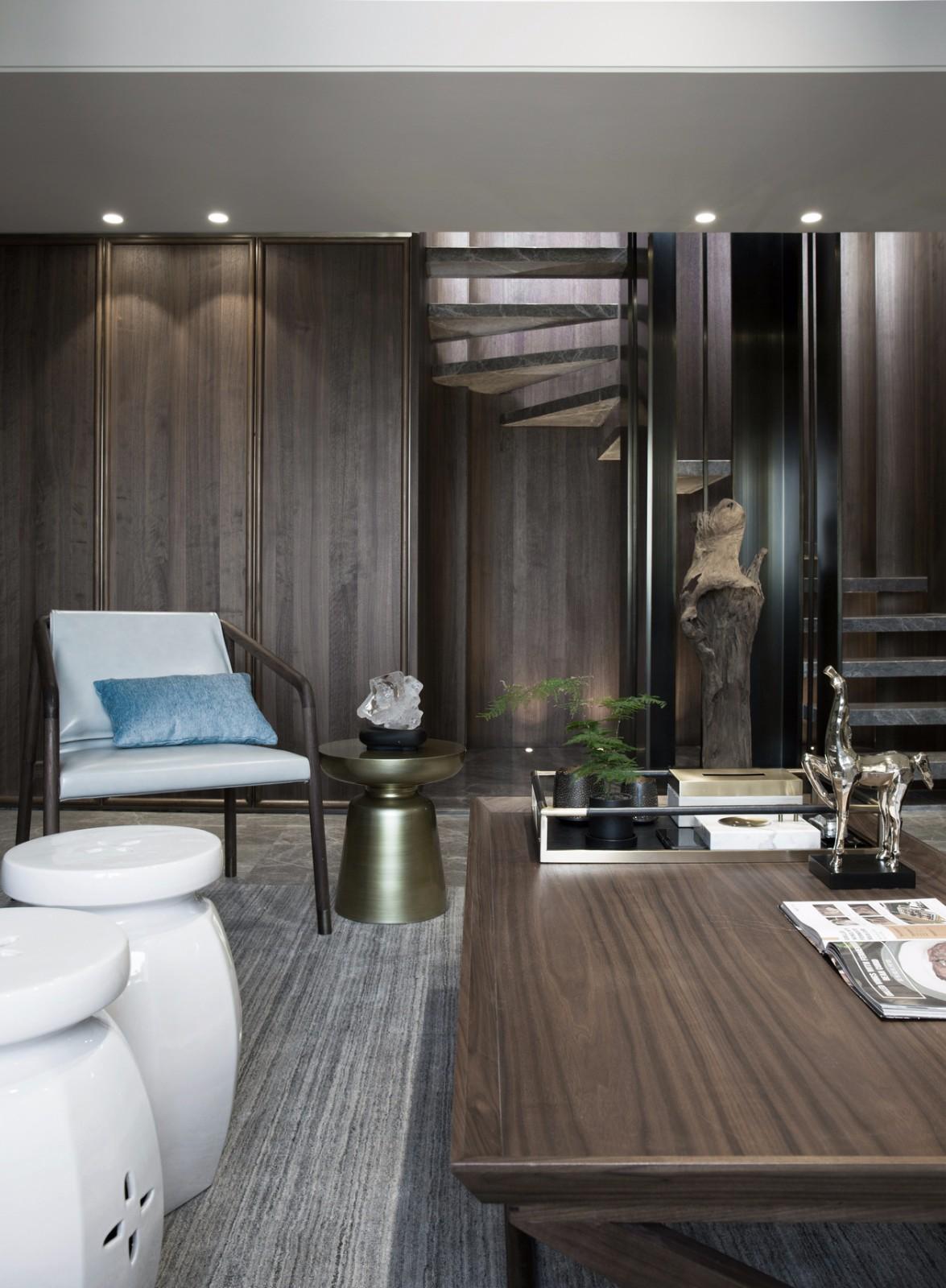 2019新中式书房装修设计 2019新中式地板装修图