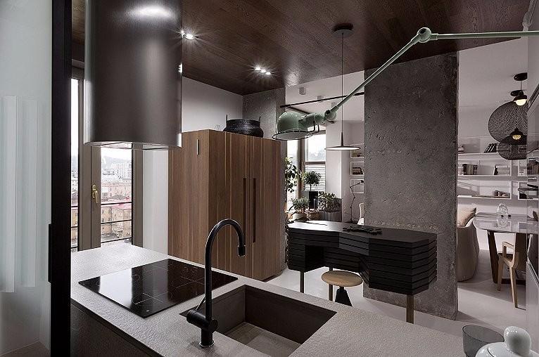 3室2卫2厅89平米工业风格
