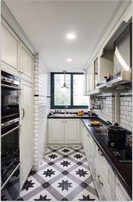 2019美式厨房装修图 2019美式地砖装修设计