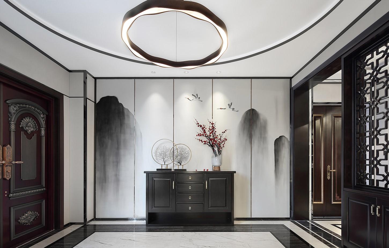 2021中式古典玄关图片 2021中式古典背景墙装饰设计