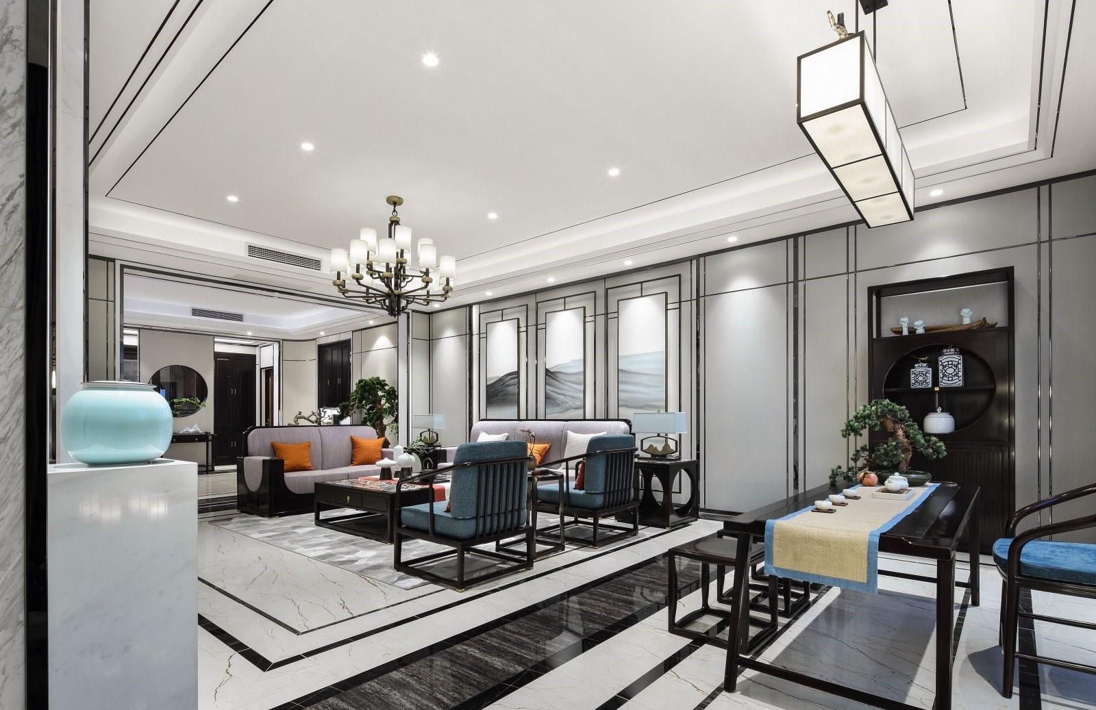 2021中式古典客厅装修设计 2021中式古典吊顶设计图片