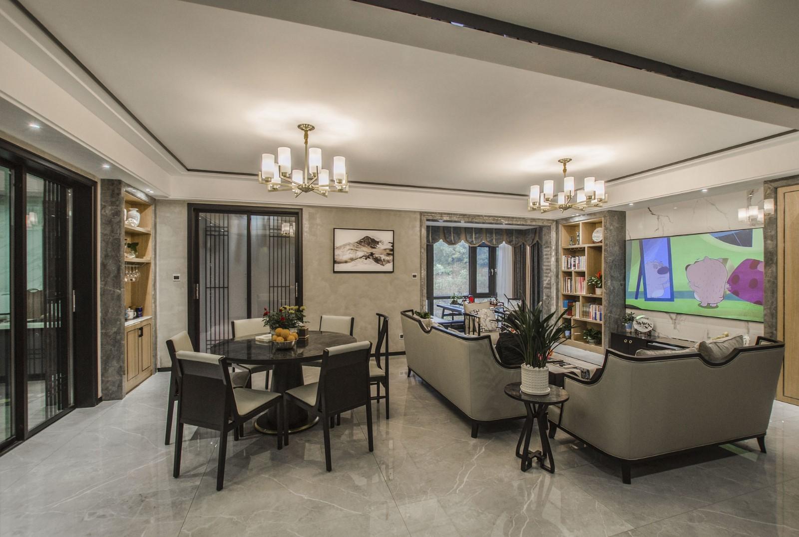 4室3卫2厅158平米现代中式风格